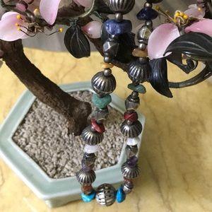 Antique multi stone necklace